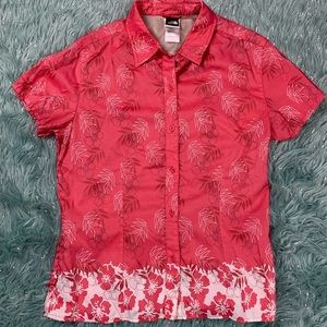 The North face floral button down